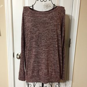 Old Navy Merlot Marled Pullover Sweater Size Med